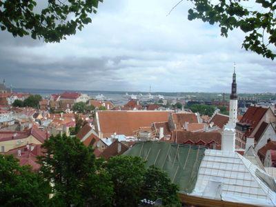 T Vue panoramique de la ville médiévale