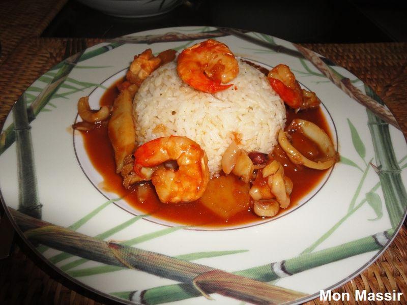 Seiches et crevettes à la sauce aigre-douce 04